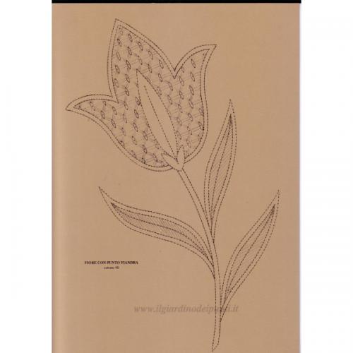 Fiore con punto Fiandra n. 138