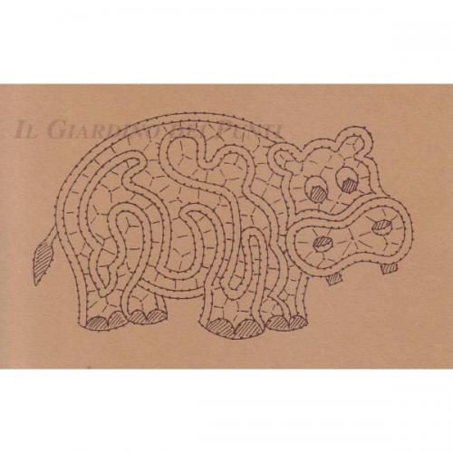 Disegno Ippopotamo n. 131